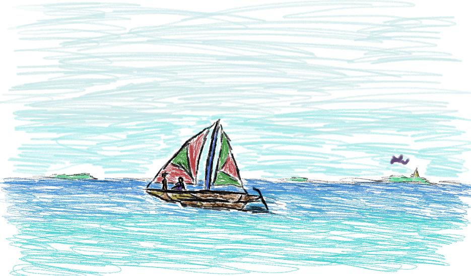 Ged and Tenar sail the seas